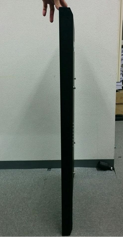デジタルサイネージ屋内用 43インチローコストスタンド式パッケージ Plain43 ブラック